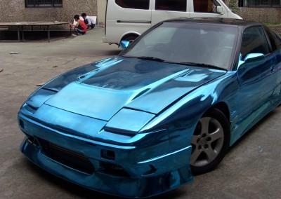 Blue Chrome Car 8