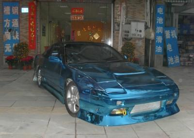 Blue Chrome Car 9