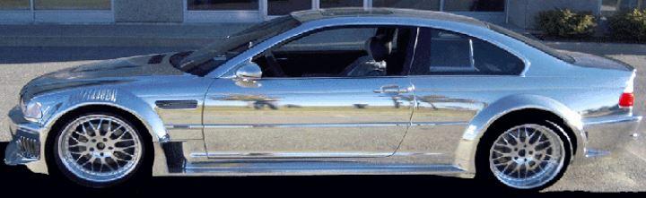CHROME SPRAYED BMW M3