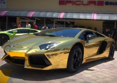 Gold Chrome Car 12