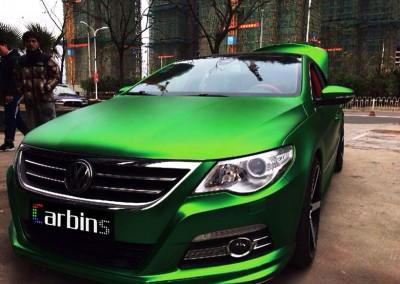 Green Matt Chrome Car 1