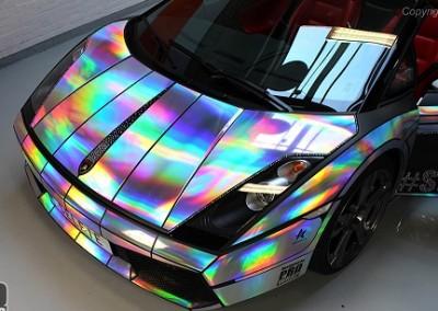 Lazer Chrome Car 8