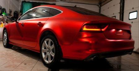 Matt red car 1