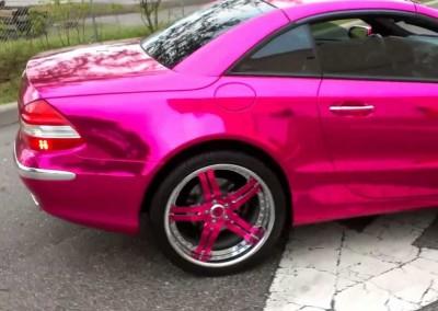 Pink Chrome Car
