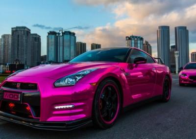 Pink chrome car 3