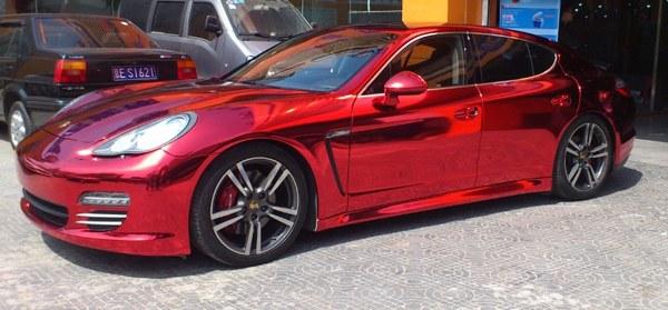 Red chrome car