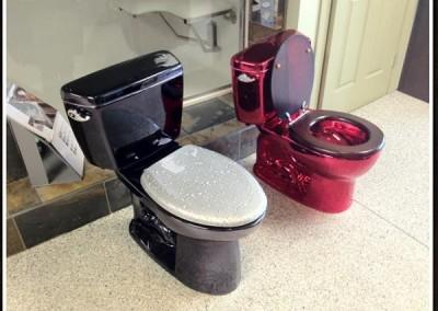 Tinted Chrome Toilets