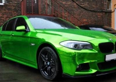 green chrome bmw