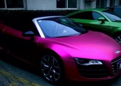 matt purple chrome car 2