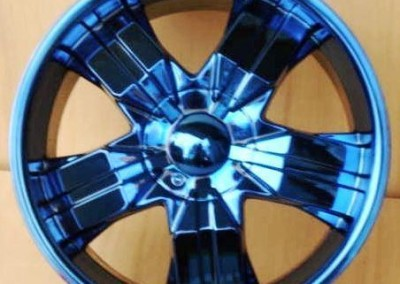Blue Chrome Rim