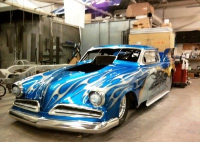 Blue Chrome Sprayed Car 1
