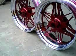 Burgundy Chrome Sprayed Rims
