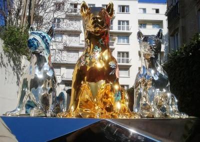 Chrome & Gold Statue