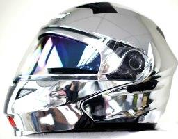 CHROME SPRAYED HELMETS