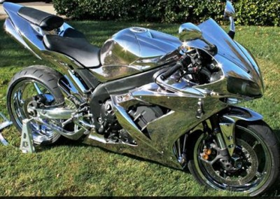 Chrome Sprayed Bike 16