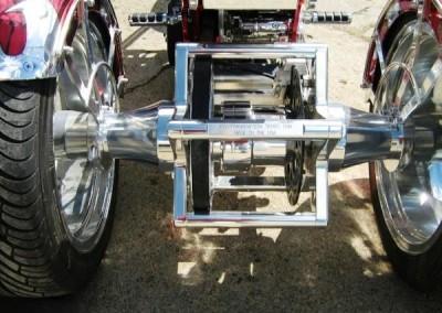 Chrome Sprayed Bike Parts