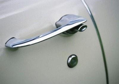 Chrome Sprayed Car Parts