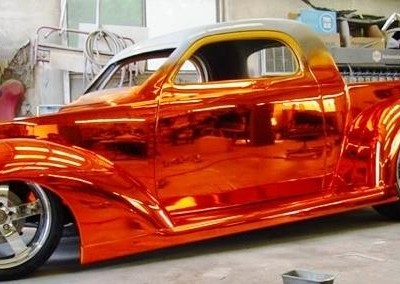 Chrome Sprayed Classic Car 2