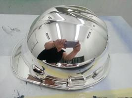 Chrome Sprayed Hard Hat 5