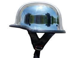 Chrome Sprayed Helmet