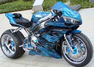 Custom Chrome Sprayed Bike 2