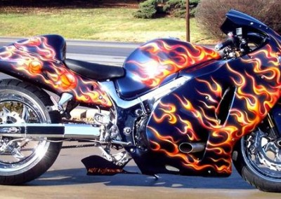 Custom Chrome Sprayed Bike