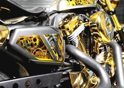 Gold & Chrome Sprayed Bike