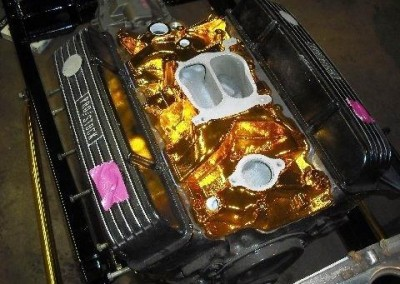 Gold Chrome Sprayed Engine