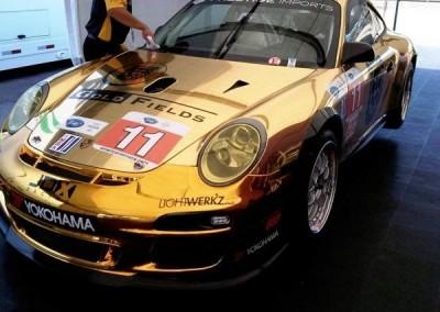 Gold Chrome Sprayed Porsche 1