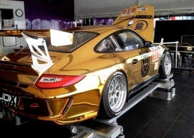 Gold Chrome Sprayed Porsche 2