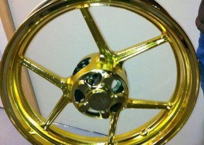 Gold Chrome Sprayed Rims