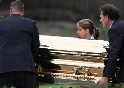Gold Chromed Coffin 1