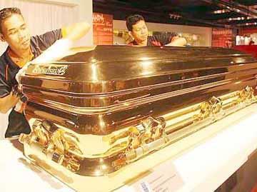 Gold Chromed Coffin 9