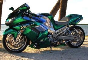 Green Chrome Sprayed Bike 1