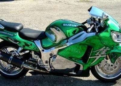 Green Chrome Sprayed Bike 2