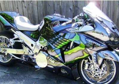 Green Chrome Sprayed Bike 3