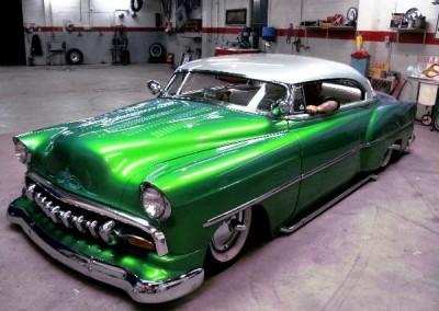 Green Chrome Sprayed Car 1