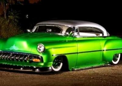 Green Chrome Sprayed Car 3