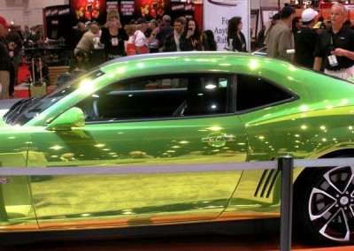 Green Chrome Sprayed Car 4