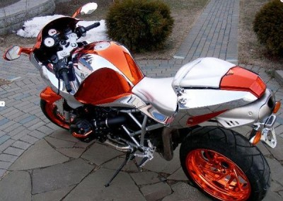 Orange & Chrome Sprayed Bike