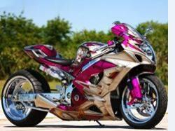Pink Chrome Sprayed Bike
