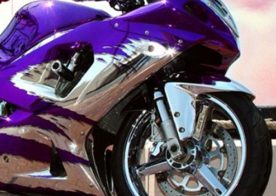 Purple Chrome Sprayed Bike 2