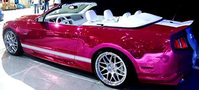Purple Chrome Sprayed Mustang