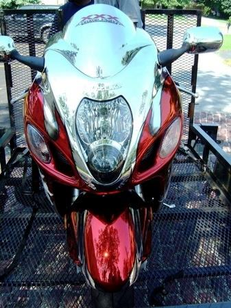 Red Chrome Sprayed Bike 4