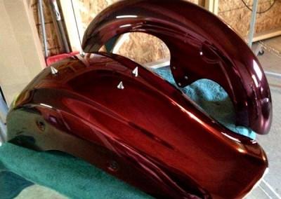 Red Chrome Sprayed Bike Fenders