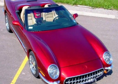 Red Chrome Sprayed Classic Car