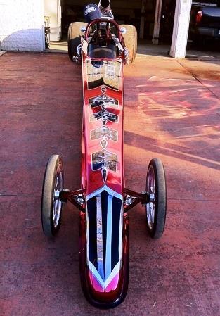 Red Chrome Sprayed Racing Car