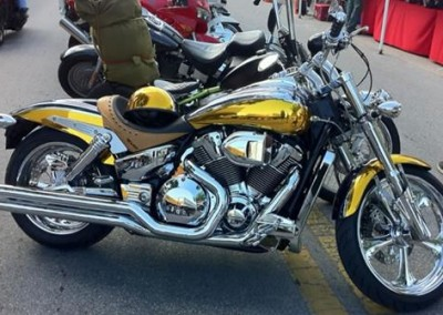 Yellow Chrome Sprayed Bike
