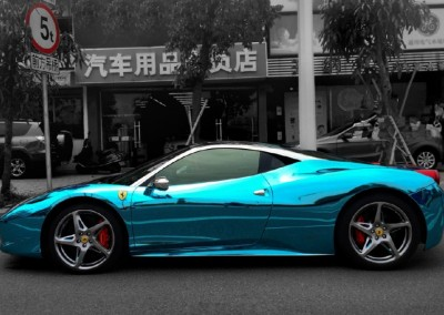 Blue Chrome Car 2