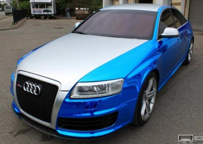 Blue Chrome Car 3